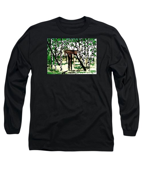 Old Obstacles Long Sleeve T-Shirt by Denise Tomasura