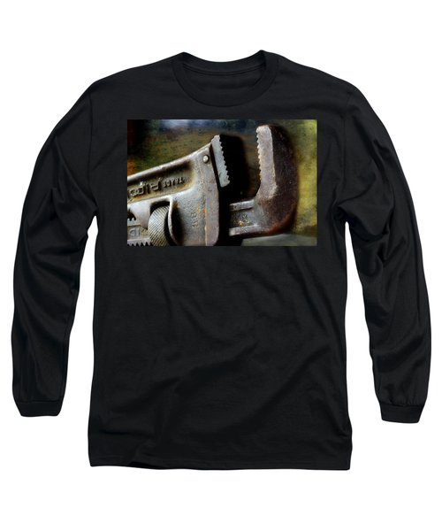 Old Pipe Wrench Long Sleeve T-Shirt