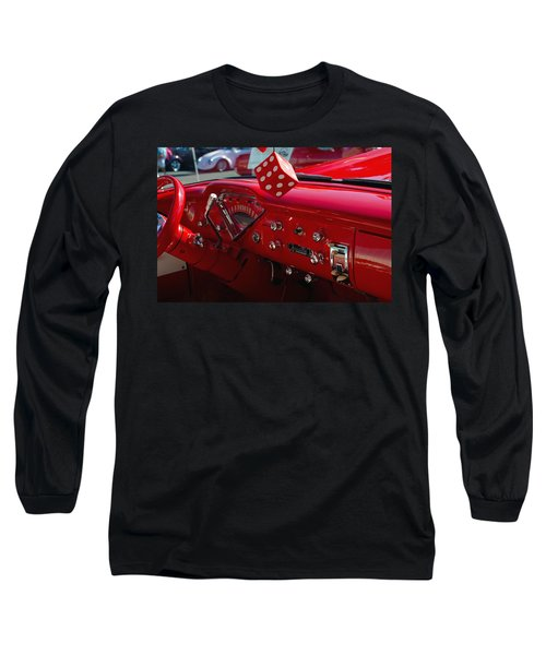 Long Sleeve T-Shirt featuring the photograph Old Red Chevy Dash by Tikvah's Hope