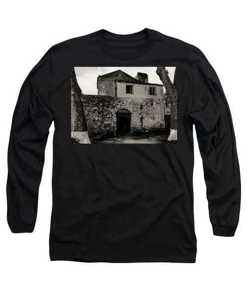 Old Stone House And Wall  Long Sleeve T-Shirt