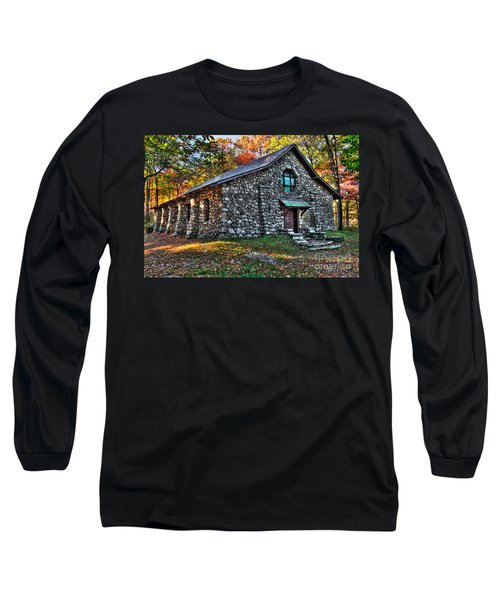 Old Stone Lodge Long Sleeve T-Shirt by Anthony Sacco