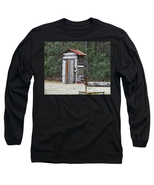 Old Time Outhouse And Pitcher Pump Long Sleeve T-Shirt