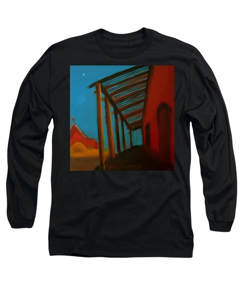 Long Sleeve T-Shirt featuring the painting Old Town by Keith Thue