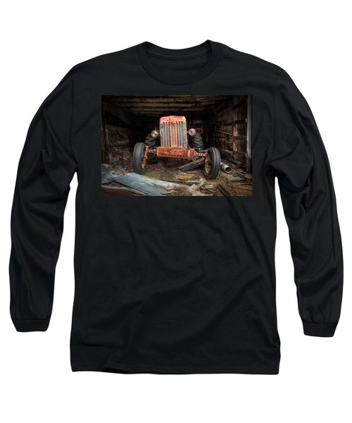 Long Sleeve T-Shirt featuring the photograph Old Tractor Face by Gary Heller