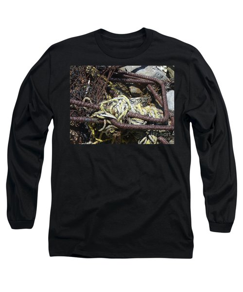 Long Sleeve T-Shirt featuring the photograph Old Trap  by Minnie Lippiatt