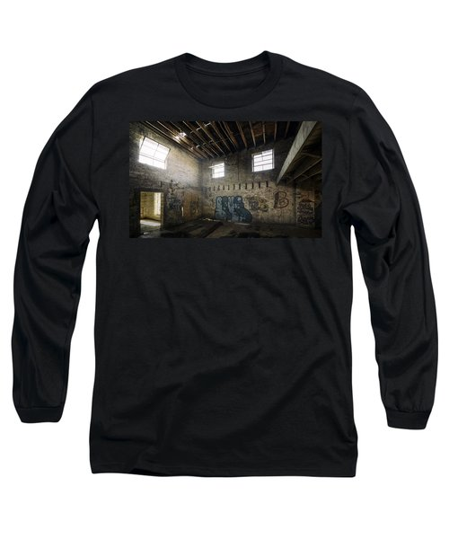 Old Warehouse Interior Long Sleeve T-Shirt by Scott Norris