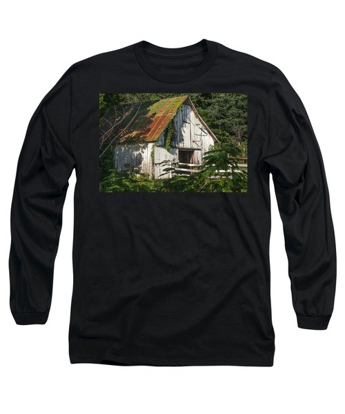 Old Whitewashed Barn In Tennessee Long Sleeve T-Shirt by Debbie Karnes