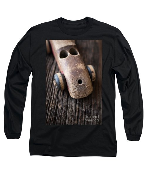Old Wooden Toy Car Long Sleeve T-Shirt