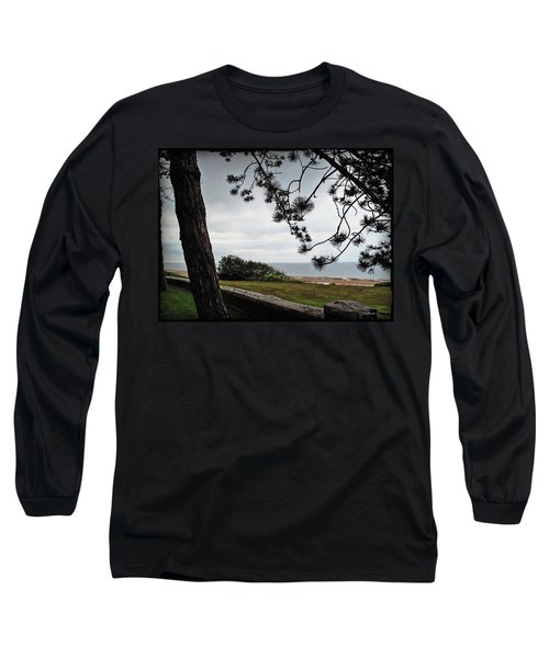 Omaha Beach Under Trees Long Sleeve T-Shirt by Joan  Minchak