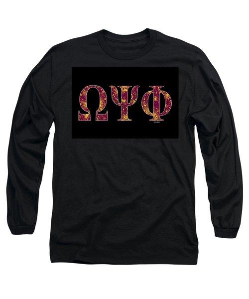 Omega Psi Phi - Black Long Sleeve T-Shirt