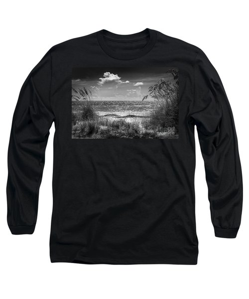 On A Clear Day-bw Long Sleeve T-Shirt