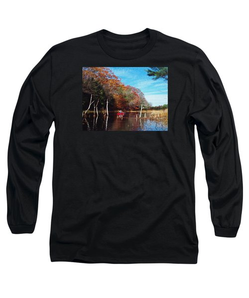 Long Sleeve T-Shirt featuring the photograph On Schoolhouse Pond Brook by Joy Nichols