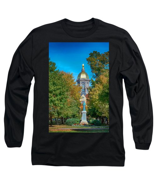 On The Campus Of The University Of Notre Dame Long Sleeve T-Shirt by Mountain Dreams