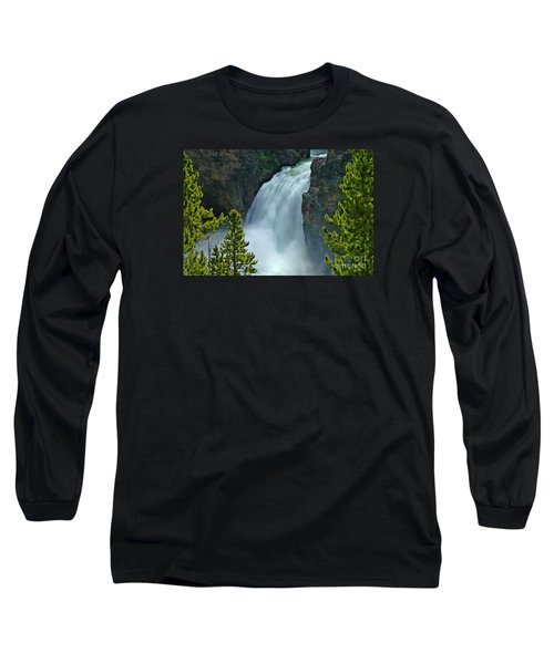 Long Sleeve T-Shirt featuring the photograph On The Edge by Nick  Boren