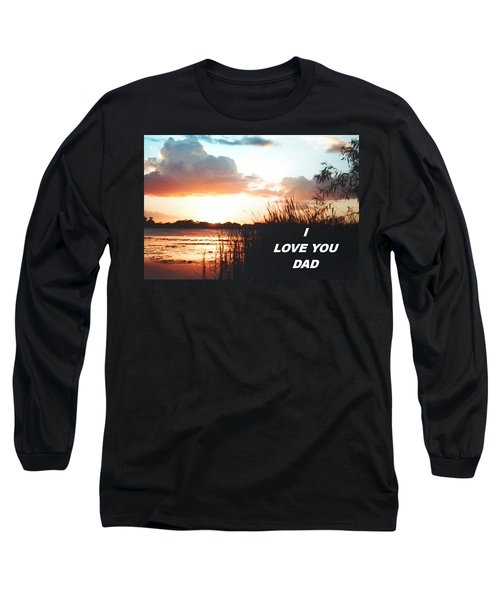 Lake Deer At Sunrise Long Sleeve T-Shirt