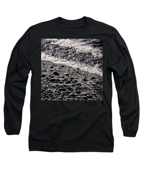On The Rocks  French Beach Square Long Sleeve T-Shirt by Roxy Hurtubise