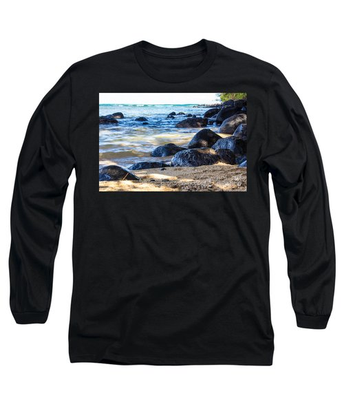 On The Rocks Long Sleeve T-Shirt by Suzanne Luft