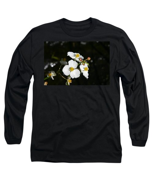 Long Sleeve T-Shirt featuring the photograph On The Shore Line by Denyse Duhaime