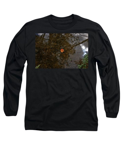 Long Sleeve T-Shirt featuring the photograph One Leaf by Jeremy Rhoades