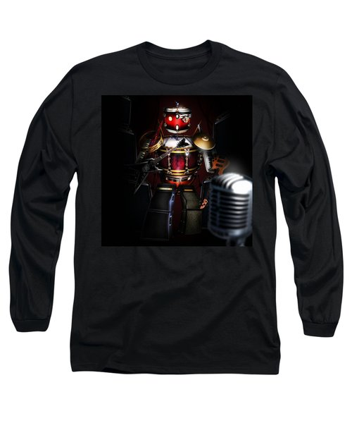 One Man Band Long Sleeve T-Shirt by Alessandro Della Pietra