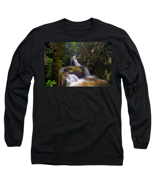 Long Sleeve T-Shirt featuring the photograph Onomea Falls by Jim Thompson