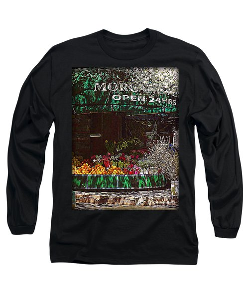 Long Sleeve T-Shirt featuring the photograph Open 24 Hours by Miriam Danar