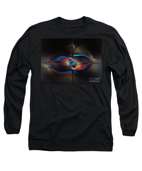 Open Minded-abstract Art Long Sleeve T-Shirt