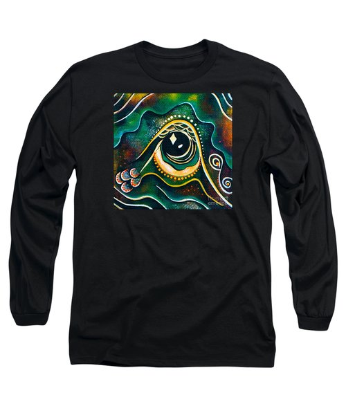 Long Sleeve T-Shirt featuring the painting Optimist Spirit Eye by Deborha Kerr