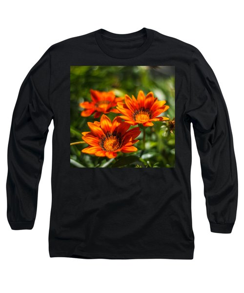 Long Sleeve T-Shirt featuring the photograph Orange Flowers by Jane Luxton