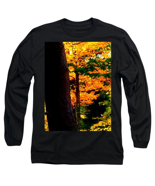 Long Sleeve T-Shirt featuring the photograph Orange Foliage by Denyse Duhaime