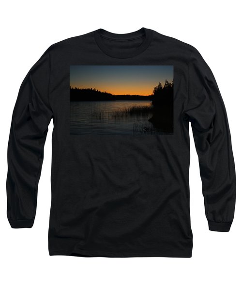 Long Sleeve T-Shirt featuring the pyrography Orange Glow by Jason Lees