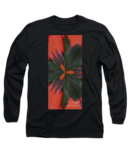 Orange Green And Purple Long Sleeve T-Shirt by Smilin Eyes  Treasures