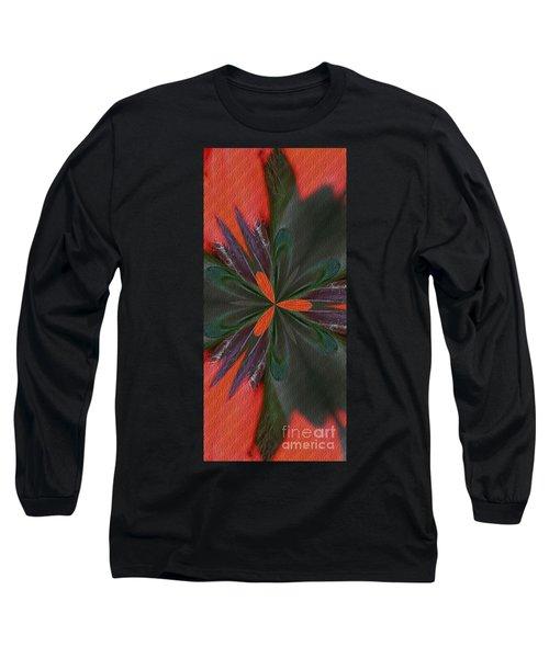 Orange Green And Purple Long Sleeve T-Shirt
