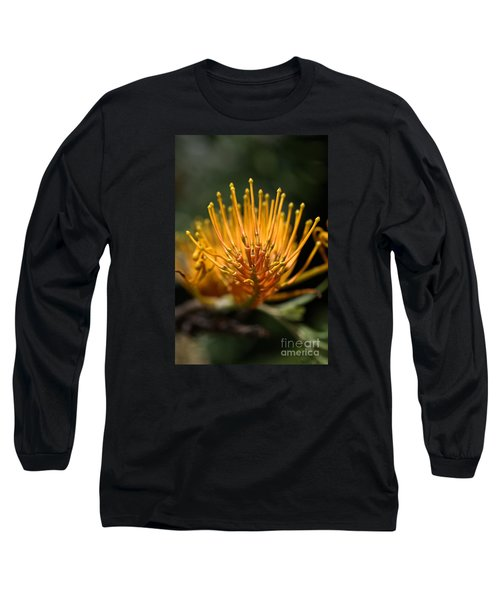 Orange Grevillea Long Sleeve T-Shirt