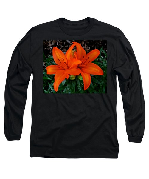 Orange Lilies Long Sleeve T-Shirt