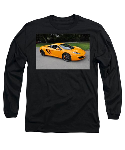 Orange Mclaren Mp4-12c Long Sleeve T-Shirt
