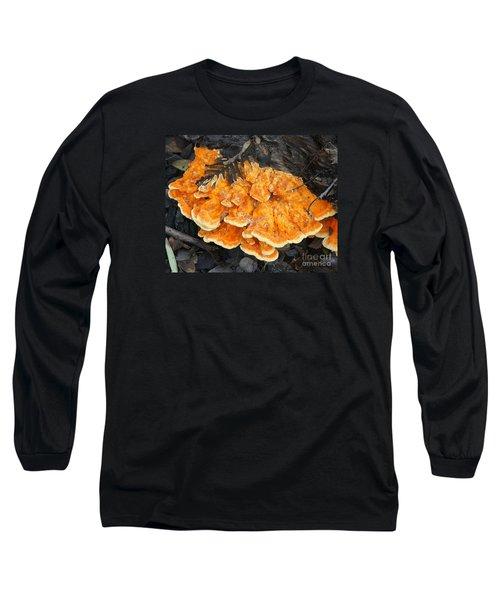 Orange Mushroom Long Sleeve T-Shirt