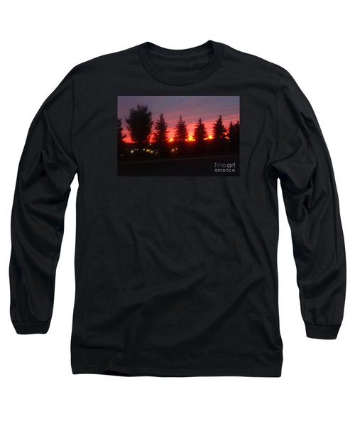 Orange Sunset Long Sleeve T-Shirt by Christina Verdgeline