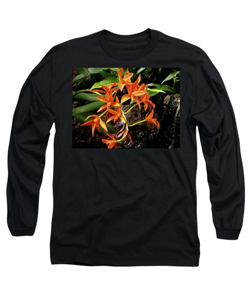 Orange Tendrils Long Sleeve T-Shirt