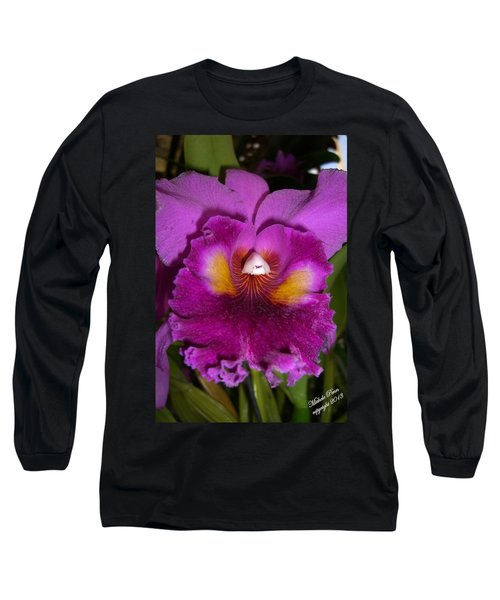 Orchid Flames Long Sleeve T-Shirt