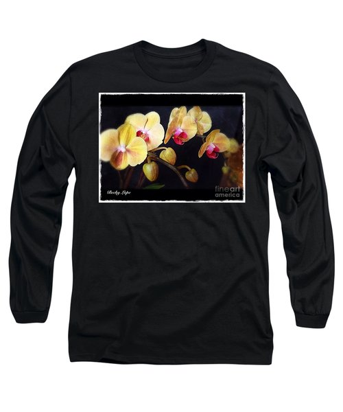 Orchids Arise Long Sleeve T-Shirt by Becky Lupe