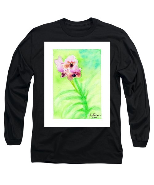 Orchids Long Sleeve T-Shirt by C Sitton