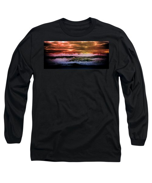 Water Long Sleeve T-Shirt featuring the photograph Ocean Storm by Aaron Berg