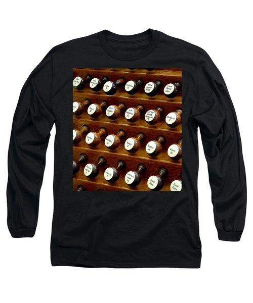 Organ Stop Knobs Long Sleeve T-Shirt