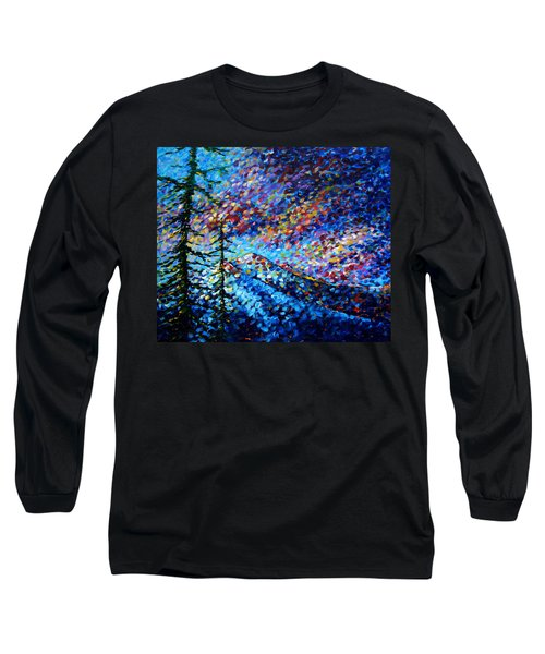Original Abstract Impressionist Landscape Contemporary Art By Madart Mountain Glory Long Sleeve T-Shirt