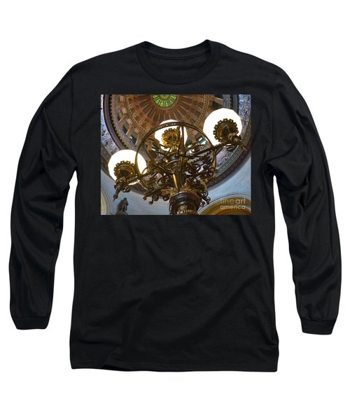 Ornate Lighting - Sprngfield Illinois Capitol Long Sleeve T-Shirt