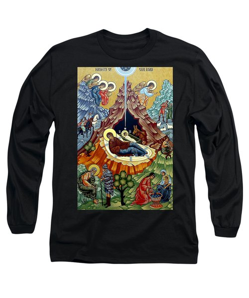 Orthodox Nativity Of Christ Long Sleeve T-Shirt by Munir Alawi