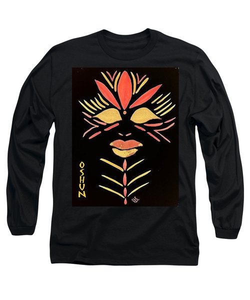 Long Sleeve T-Shirt featuring the painting Oshun by Cleaster Cotton