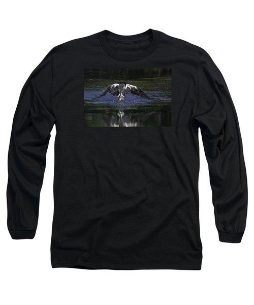 Osprey Bird Of Prey Long Sleeve T-Shirt by David Lester