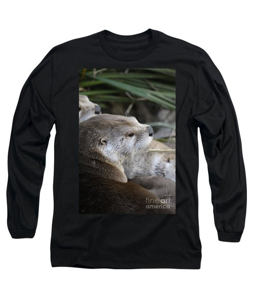 Otter And Family Long Sleeve T-Shirt